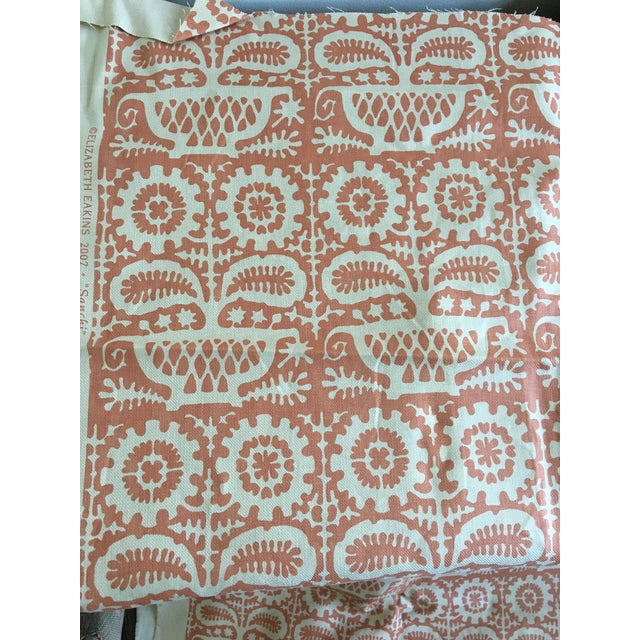 Now out of print, Elizabeth Eakins' Sanchi fabric is a gorgeous tribal print in a soft rust colorway. The ground fabric is...