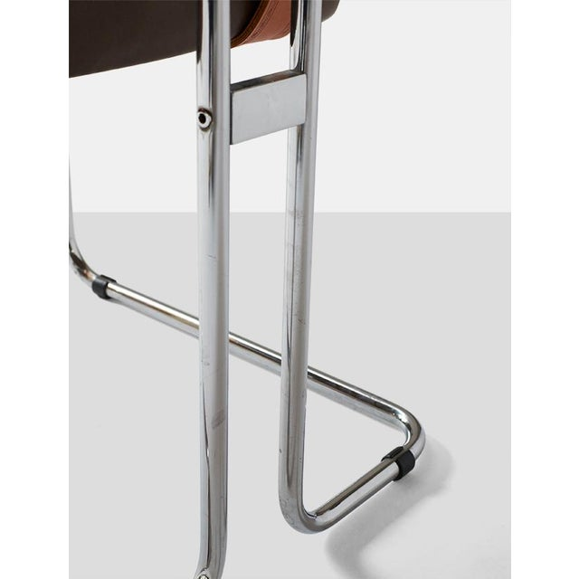 Metal Tucroma Dining Chairs by Guido Faleschini - set of 4 For Sale - Image 7 of 8