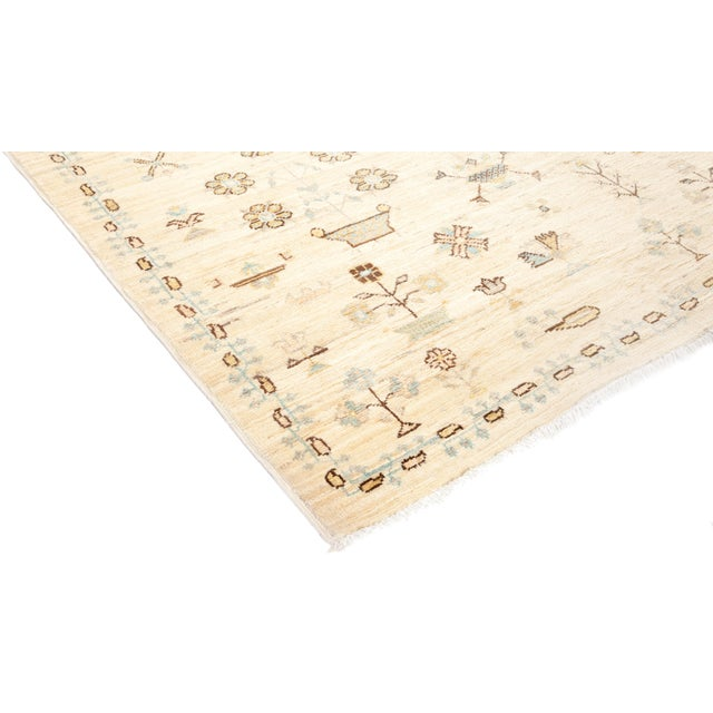 """Eclectic Hand Knotted Area Rug - 6' 1"""" X 8' 8"""" - Image 2 of 4"""