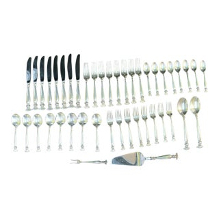 Wallace Sterling Silver Romance of the Sea Dinnerware Service for 8 Set - 44 Piece Set For Sale