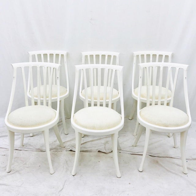 Set Vintage Poltrona Frau Dining Chairs For Sale - Image 13 of 13