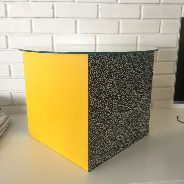 1980s 1980s Memphis Ettore Sottsass for Anthologie Quartetto Cube Table For Sale - Image 5 of 12