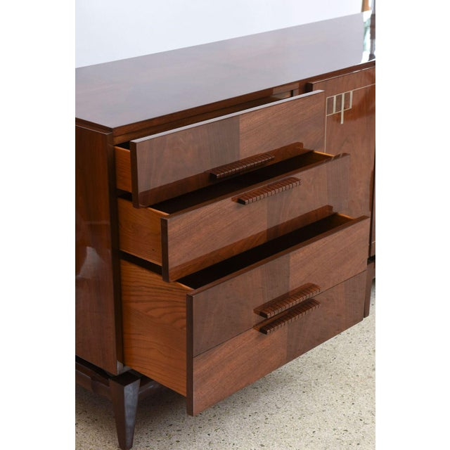 1950s Georg Kofoed Danish Modern Rosewood and Silver Inlaid Sideboard, 1950s For Sale - Image 5 of 9