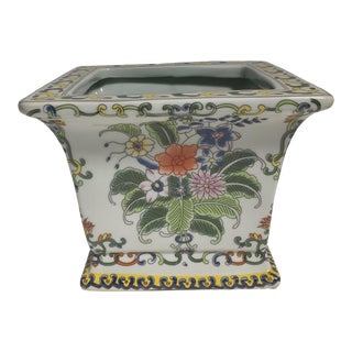 Tobacco Leaf Chinoiserie Planter For Sale