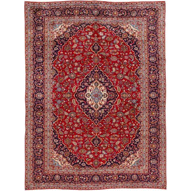 """Vintage Persian Kashan Rug, 9'07"""" X 13'00"""" For Sale - Image 10 of 10"""