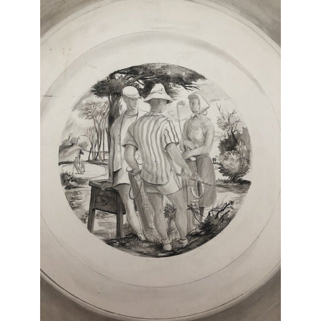 1940 9th Tee Golf Painting by William Palmer For Sale - Image 4 of 6