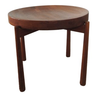 Jens Quistgaard Mid-Century Modern Round Tray Side Table For Sale