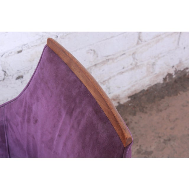 Purple Kipp Stewart for Directional Mid-Century Modern Lounge Chairs, Pair For Sale - Image 8 of 13