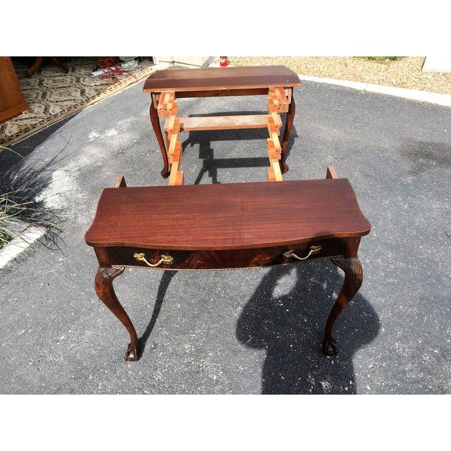 Mahogany & Leather Writing Desk - Image 8 of 9