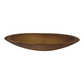 Vintage Mid-Century Oval Wood Bowl For Sale