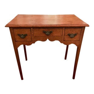 Late 18th Century Antique George III Oak Side Table / Desk For Sale