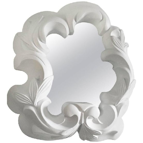 A French circa 1940s plaster wall mirror