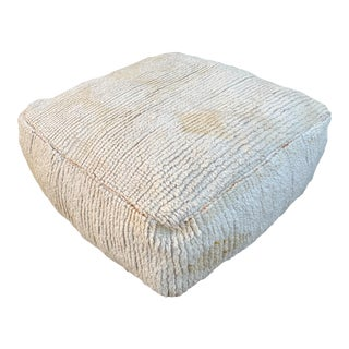 1980s Berber Moroccan Pouf Cover For Sale