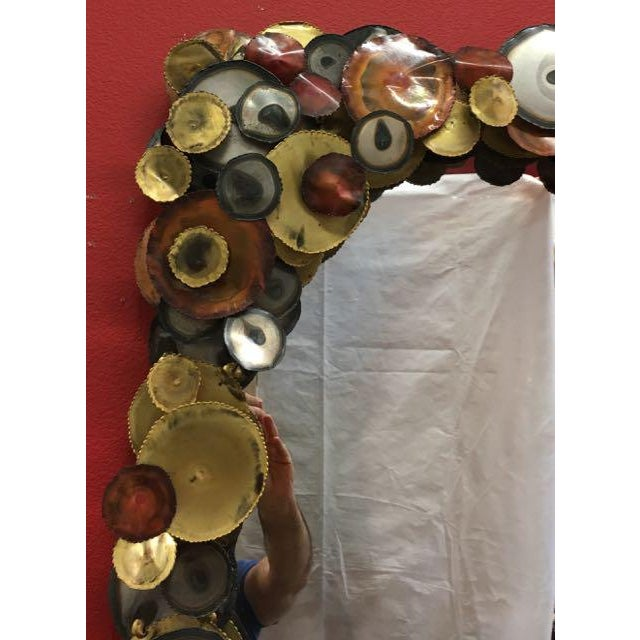 Curtis Jere Raindrops Mirror C Jeré Artisan House For Sale - Image 5 of 8