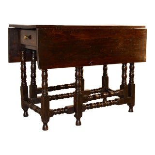17th C English Oak Gateleg Table For Sale