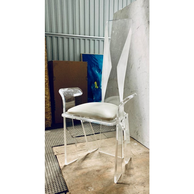 Lucite Dining Chairs - a Pair | Chairish
