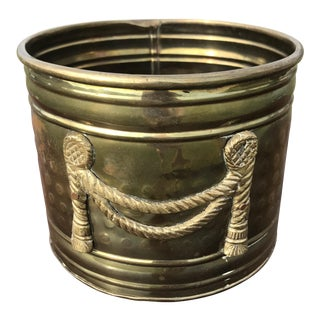 Brass Planter Pot With Rope Tassels