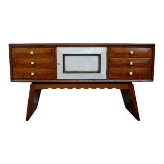 Italian Mid-Century Paolo Buffa Style Wood and Shagreen Credenza For Sale