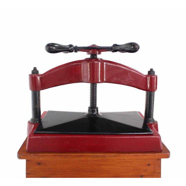 Heavy Antique Cast Iron Book Press For Sale In New York - Image 6 of 8