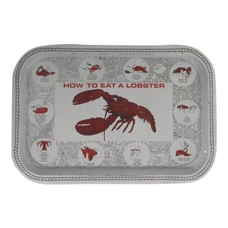 "Vintage ""How to Eat a Lobster"" Tray For Sale"