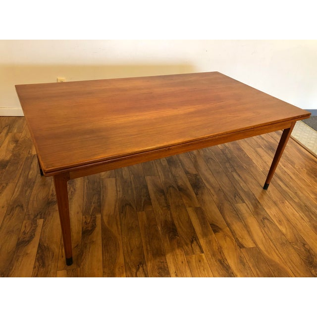 Large Teak Draw Leaf Dining Table by Niels Otto Møller for Jl Møller, Made in Denmark For Sale - Image 13 of 13