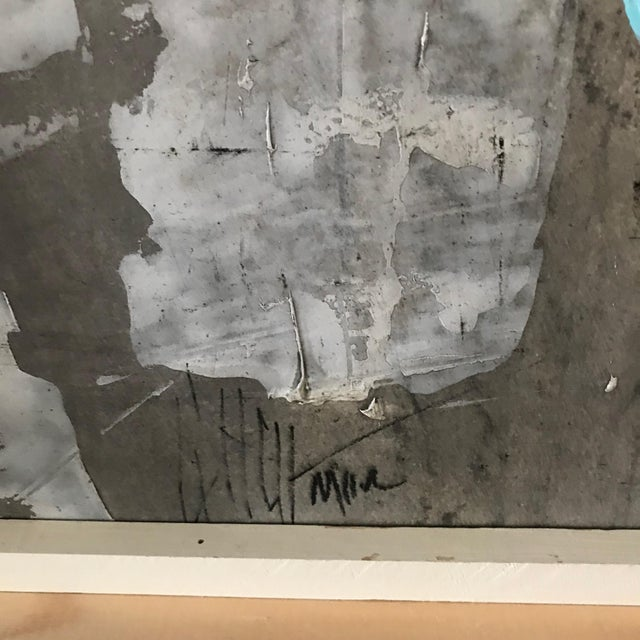 1960s Vintage Graham Harmon Abstract Black and White Paintings - a Pair For Sale In Los Angeles - Image 6 of 9