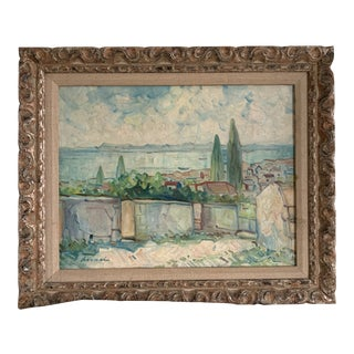 Antique Original Signed Impressionist Oil Painting For Sale