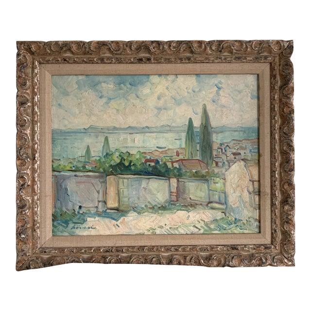 Antique Original Signed Impressionist Oil Painting For Sale