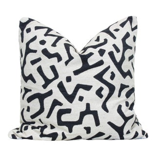 Custom Made Black and White Linen Pillow Cushion