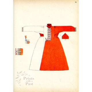 Asian Fashions of the Caspian Steppes, 1920s Print For Sale