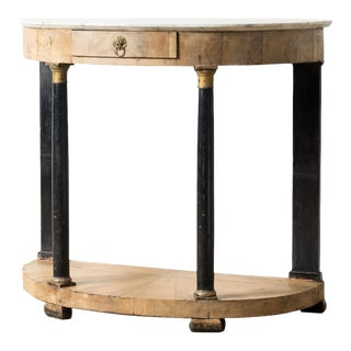 19th Century Art Nouveau Demi-Lune Table For Sale