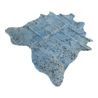"Cowhide Dyed Blue Rug - 5'10"" x 6'7"""