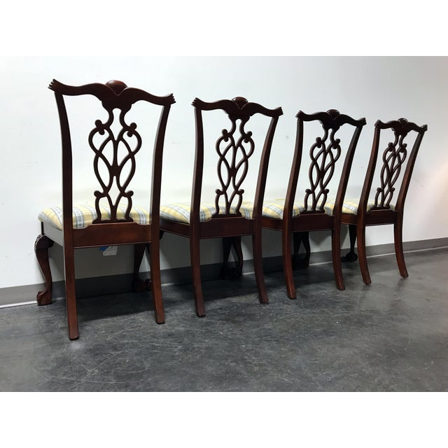 Lexington Chippendale Mahogany Ball Claw Dining Chairs- Set of 4 - Image 9 of 11