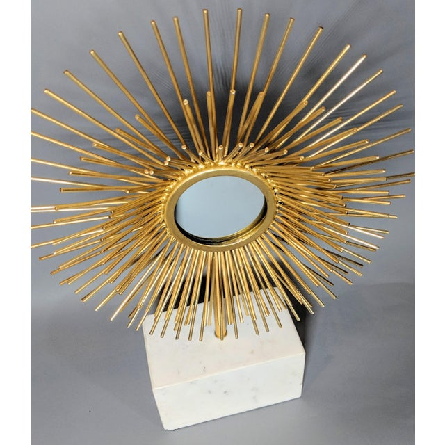 Contemporary Modernist Starburst Tabletop Mirror Sculpture For Sale - Image 3 of 10