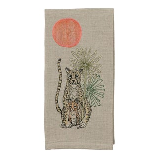 Cheetah Guardian Tea Towel For Sale