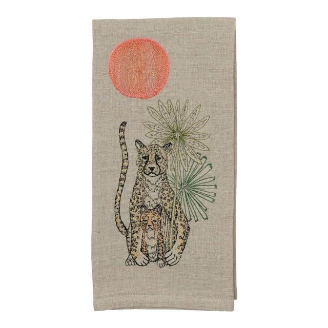 Cheetah Guardian Tea Towel For Sale