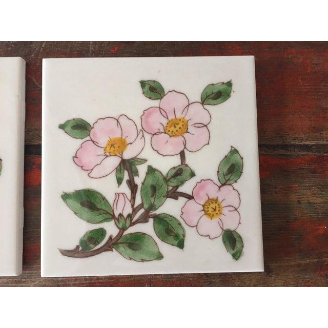 Franciscan Desert Rose Trivets or Tiles - a Pair - Image 3 of 7