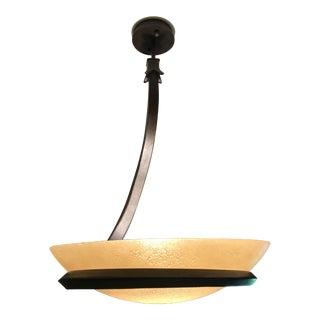 Murano Glass Pendant Single Light Fixture/Lamp International Alfea Model 1050/S6 For Sale