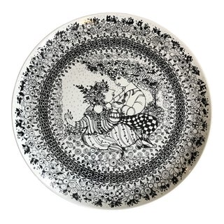 1970s Bjorn Winbald Porcelain Decorative Plate For Sale