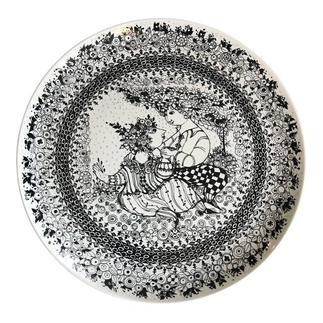 1970s Bjorn Winbald Porcelain Decorative Plate For Sale