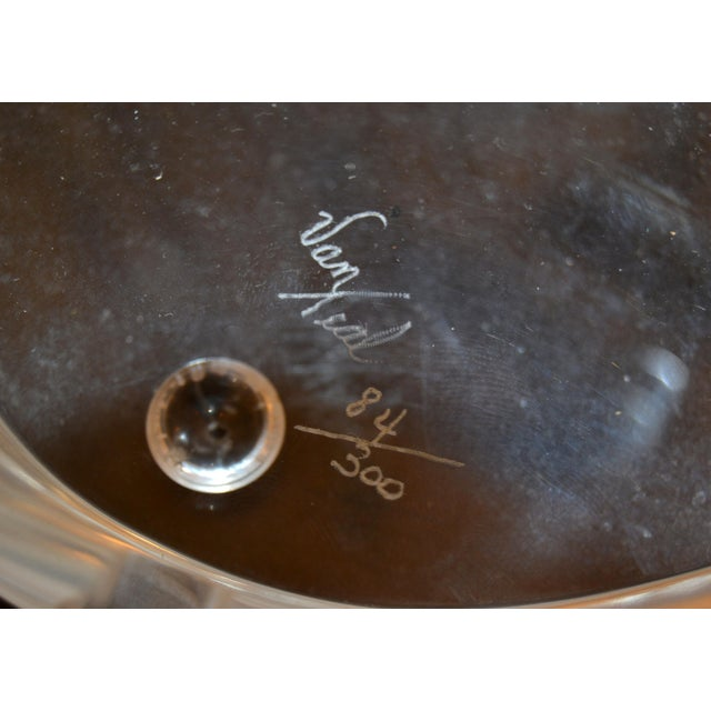 Transparent Signed Van Teal Three Stylized Birds Lucite Table Sculpture For Sale - Image 8 of 11