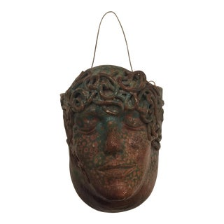 Hanging Ceramic Head Planter