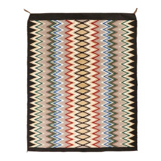 """Colorful Navajo Style Eye Dazzler, 3'9"""" X 4'9"""" For Sale"""