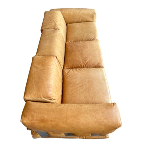 Mid-Century Modern Adrian Pearsall Leather Sofa For Sale - Image 3 of 5