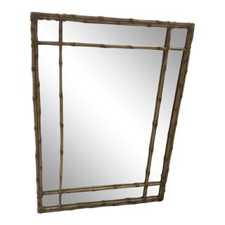 Vintage Carvers Guild Faux Bamboo Wall Mirror For Sale