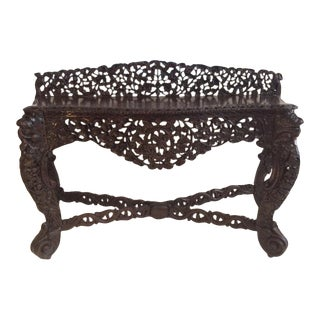 19th Century Raj Anglo Indian Console For Sale