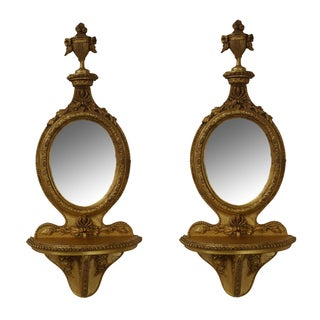 Quality French Louis XV Style Gilt Shelves - Pair For Sale