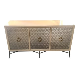 Contemporary Bernhardt Silver Scale Console Table