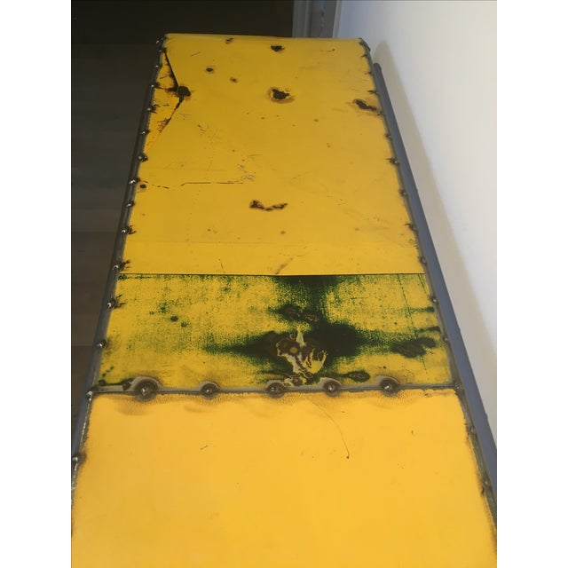 Industrial Salvaged Steel Console - Image 8 of 9