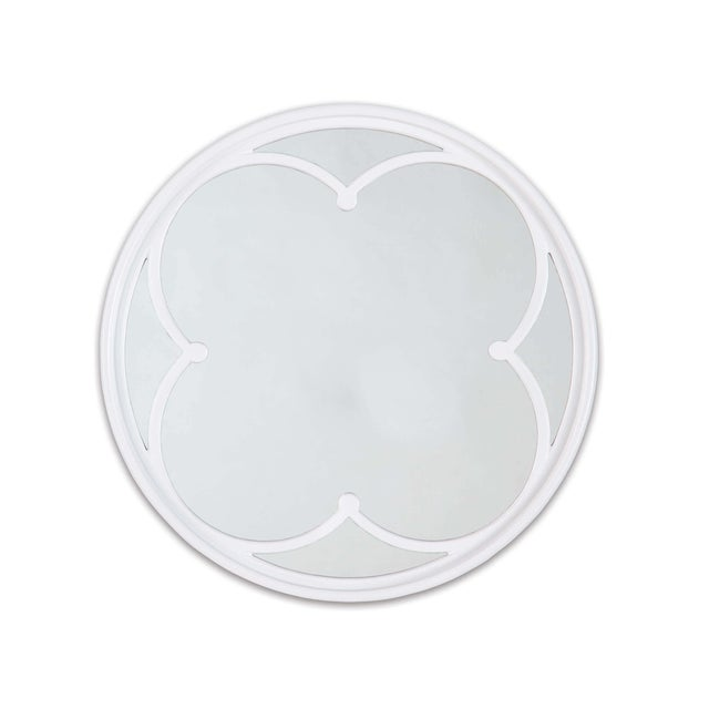 Not Yet Made - Made To Order Lula Quatrefoil Mirror Small in White For Sale - Image 5 of 5
